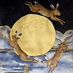 That night the gold moon saw the hares leap and dance, Blythburgh